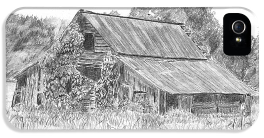Barn IPhone 5 Case featuring the drawing Old Barn 4 by Barry Jones