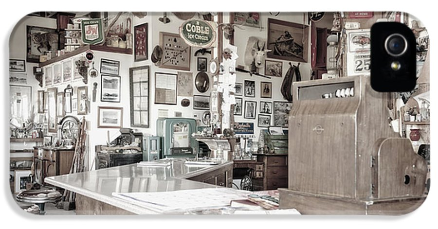 Barstool IPhone 5 Case featuring the photograph Old Fashioned Diner by Dave & Les Jacobs