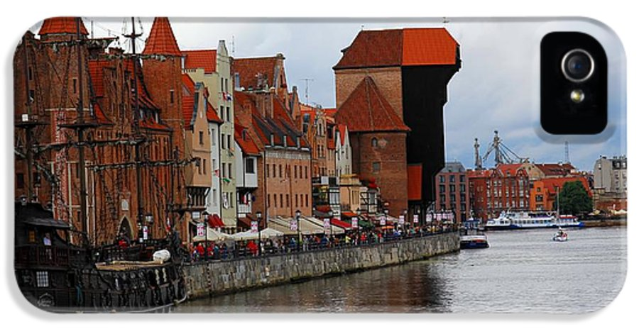 Port IPhone 5 Case featuring the photograph Old Gdansk Port Poland by Sophie Vigneault