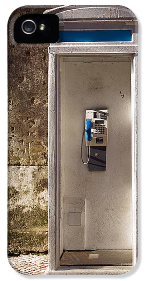 Ancient IPhone 5 Case featuring the photograph Old Phonebooth by Carlos Caetano