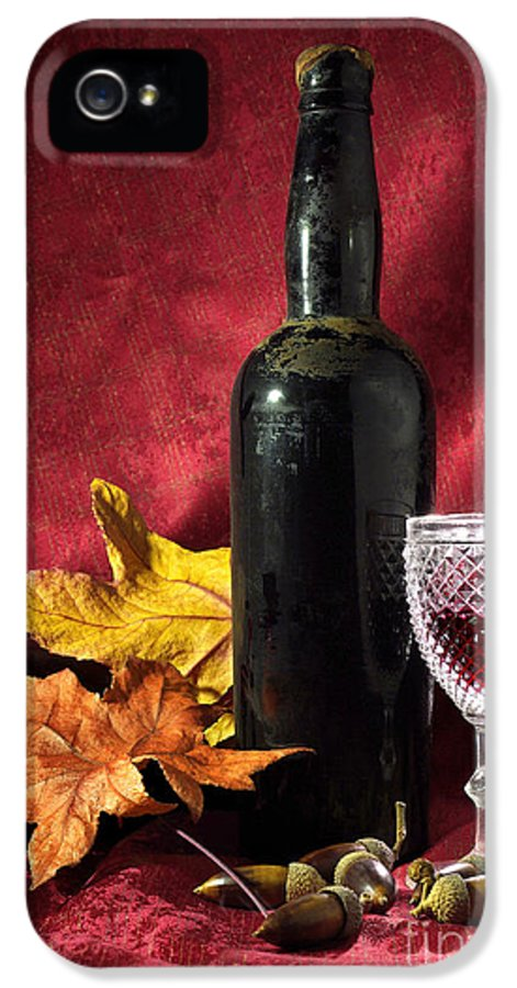 Acorn IPhone 5 / 5s Case featuring the photograph Old Wine Bottle by Carlos Caetano