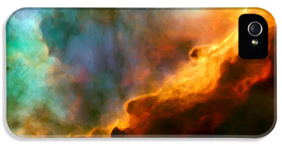 Nebula IPhone 5 / 5s Case featuring the photograph Omega Swan Nebula 3 by Jennifer Rondinelli Reilly - Fine Art Photography