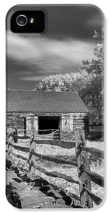 Old Mill IPhone 5 Case featuring the photograph On The Farm by Joann Vitali