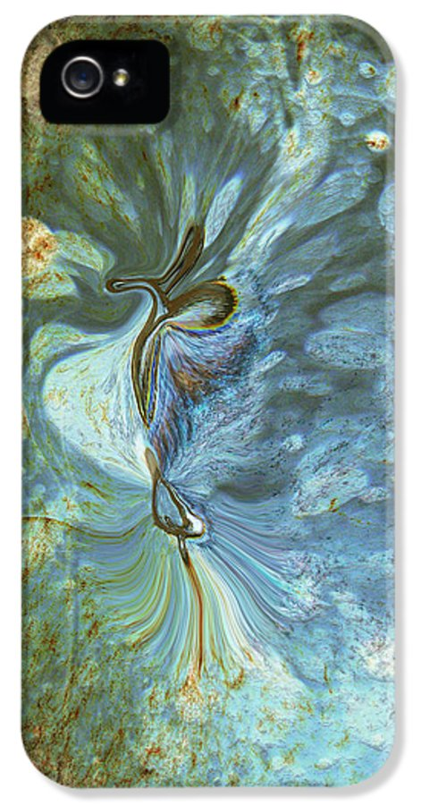 Abstract IPhone 5 Case featuring the digital art Onward by Linda Sannuti