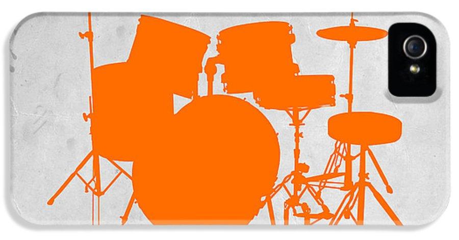 Drums IPhone 5 Case featuring the photograph Orange Drum Set by Naxart Studio