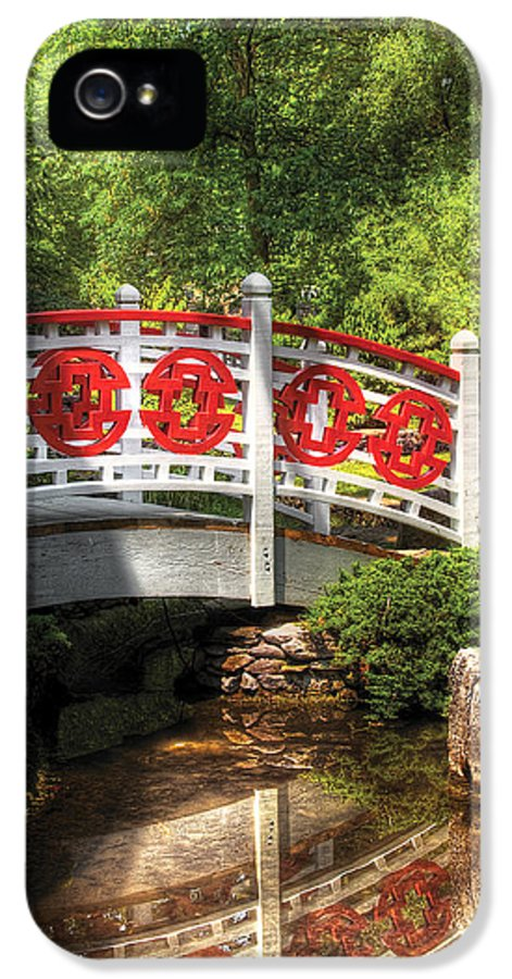 Savad IPhone 5 Case featuring the photograph Orient - Bridge - Tranquility by Mike Savad