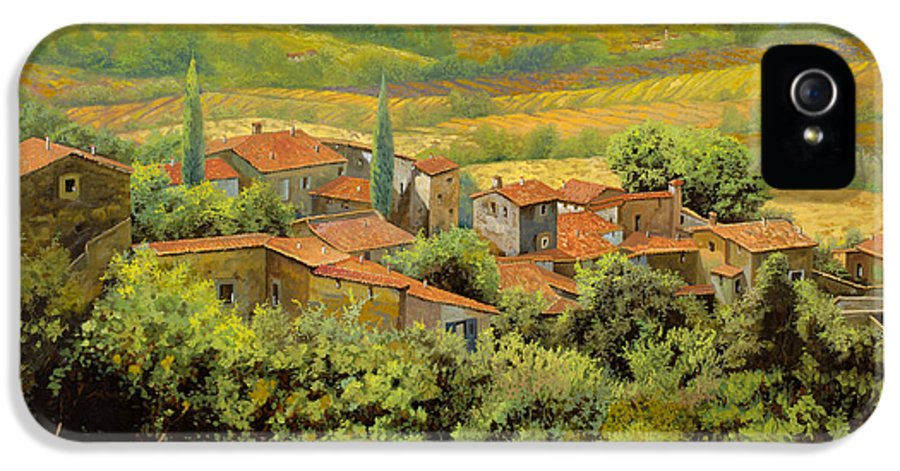 Tuscany IPhone 5 / 5s Case featuring the painting Paesaggio Toscano by Guido Borelli