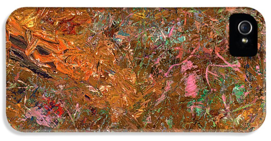 Abstract IPhone 5 Case featuring the painting Paint Number 19 by James W Johnson