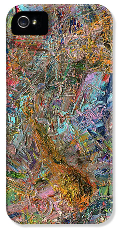 Abstract IPhone 5 Case featuring the painting Paint Number 26 by James W Johnson