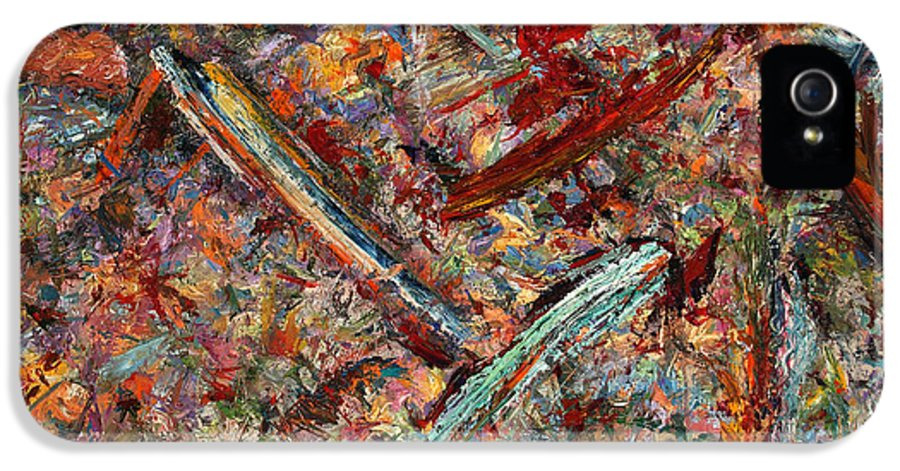 Abstract IPhone 5 Case featuring the painting Paint Number 30 by James W Johnson