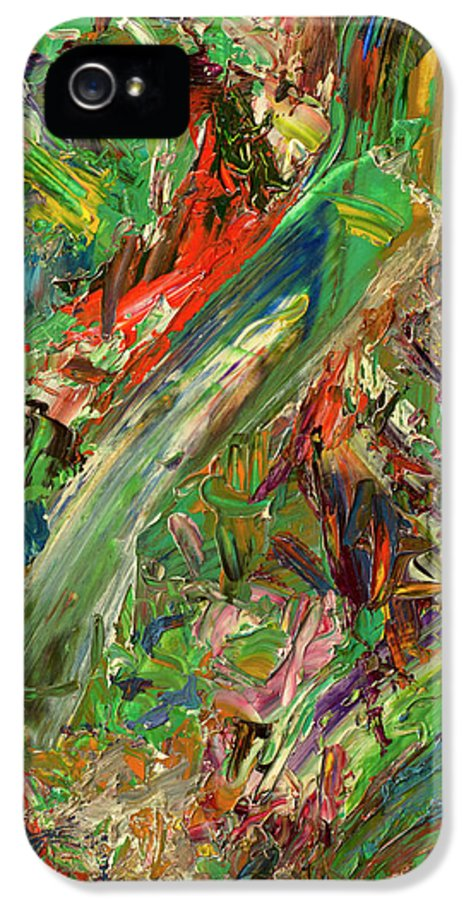 Abstract IPhone 5 Case featuring the painting Paint Number 32 by James W Johnson