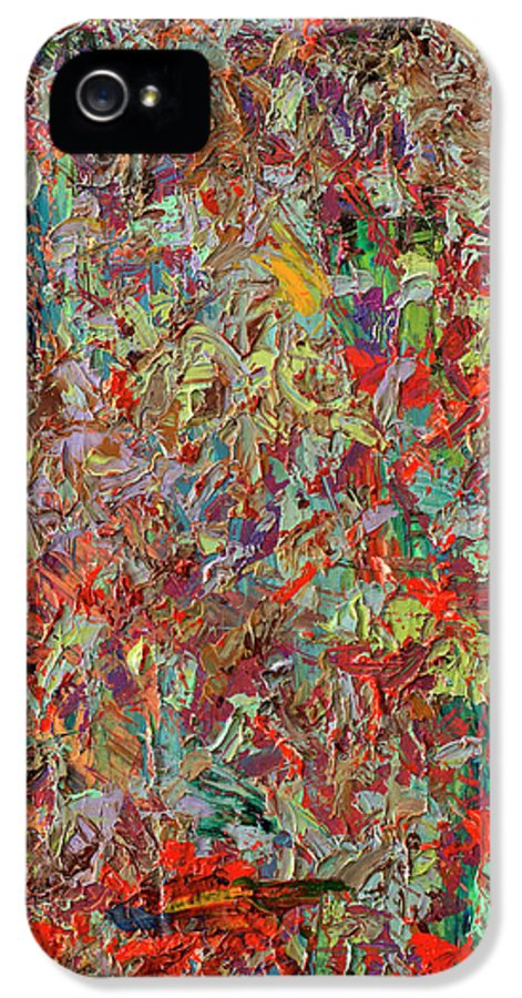 Abstract IPhone 5 Case featuring the painting Paint Number 33 by James W Johnson
