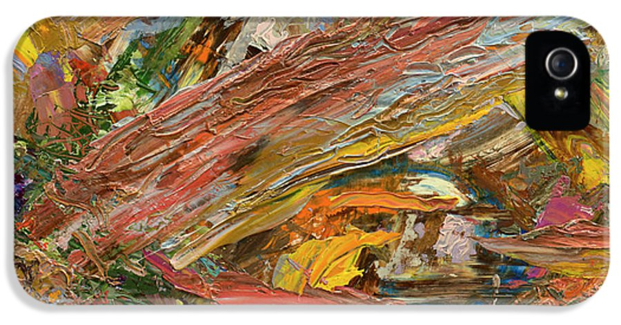 Abstract IPhone 5 Case featuring the painting Paint Number 41 by James W Johnson
