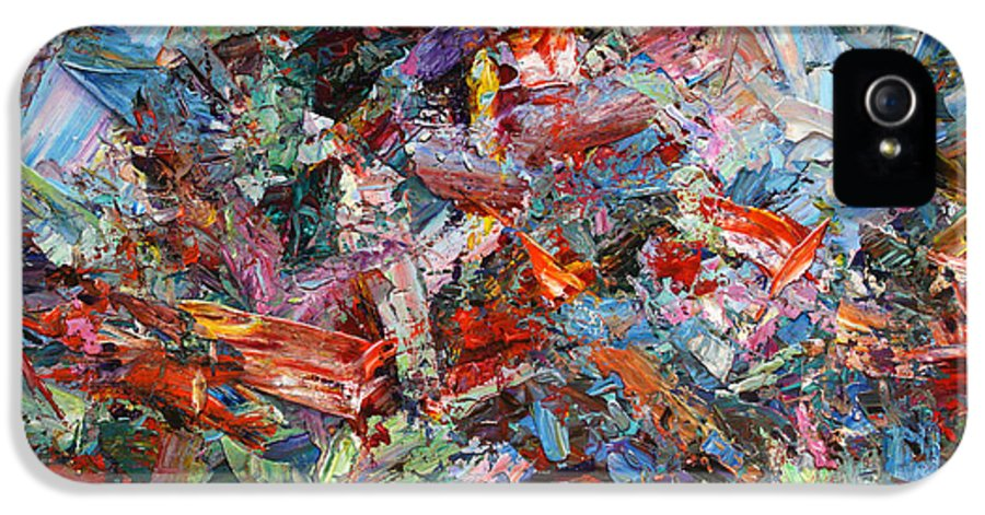 Abstract IPhone 5 Case featuring the painting Paint Number 42-a by James W Johnson