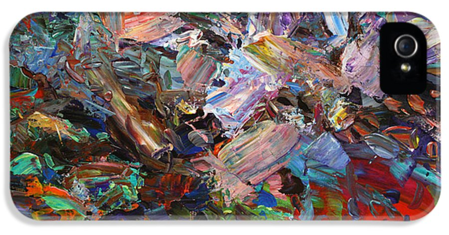 Abstract IPhone 5 Case featuring the painting Paint Number 42-c by James W Johnson
