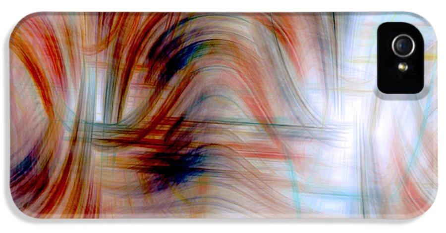 Digital Art IPhone 5 Case featuring the digital art Painted Windows by Linda Sannuti