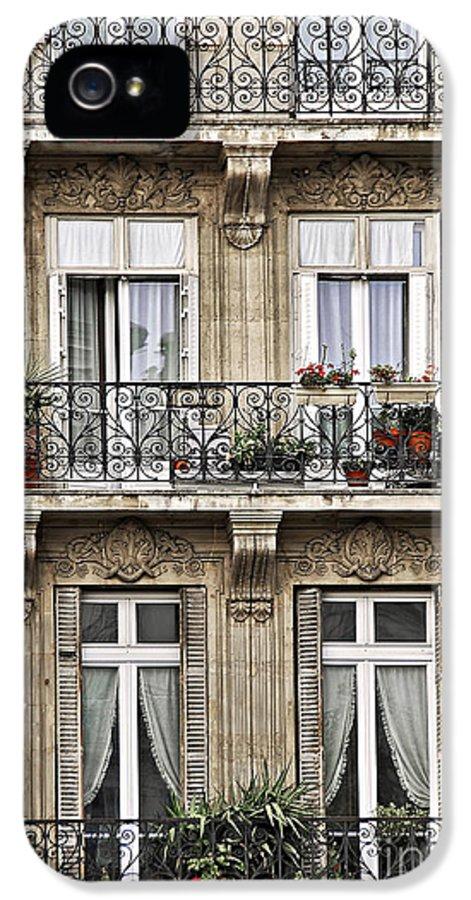Building IPhone 5 Case featuring the photograph Paris Windows by Elena Elisseeva
