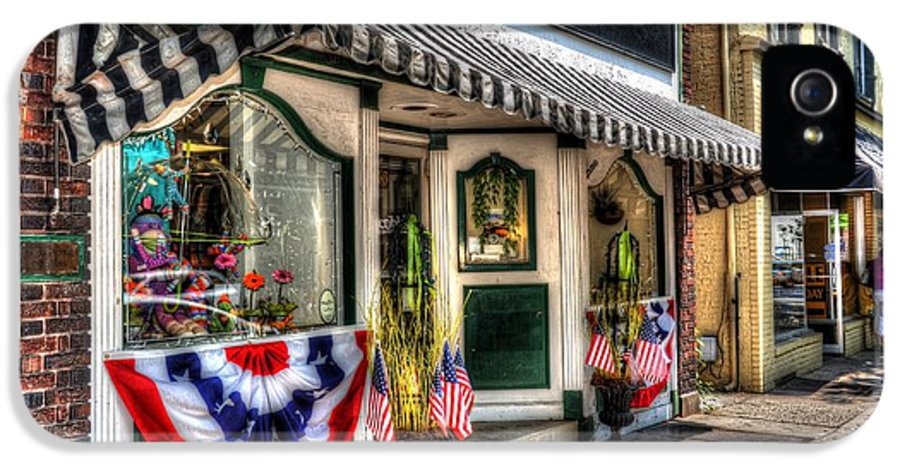 City IPhone 5 Case featuring the photograph Patriotic Street by Debbi Granruth