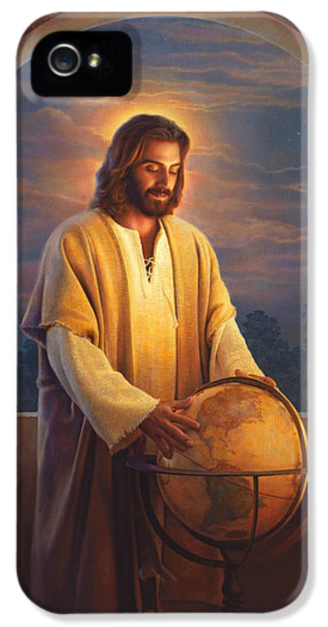 Jesus IPhone 5 Case featuring the painting Peace On Earth by Greg Olsen