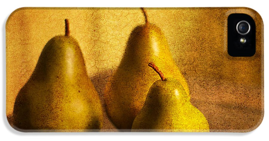 Pears IPhone 5 Case featuring the photograph Pear Trio by Rebecca Cozart