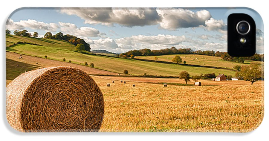 Straw IPhone 5 Case featuring the photograph Perfect Harvest Landscape by Amanda Elwell