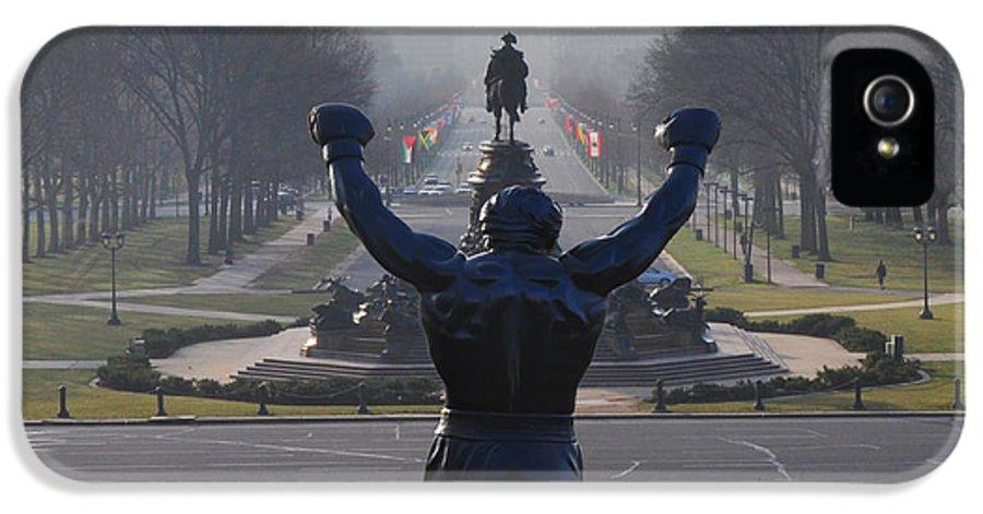 Philadelphia Champion - Rocky IPhone 5 Case featuring the photograph Philadelphia Champion - Rocky by Bill Cannon