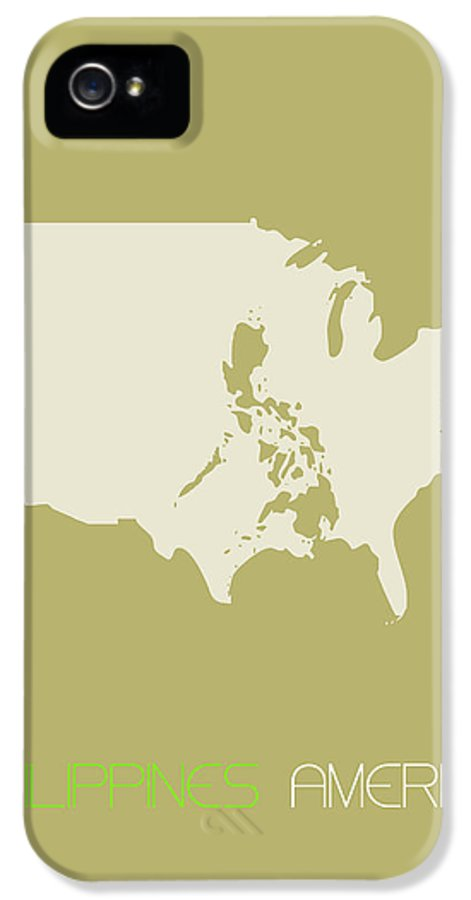 Philippines IPhone 5 Case featuring the digital art Philippines America Poster by Naxart Studio