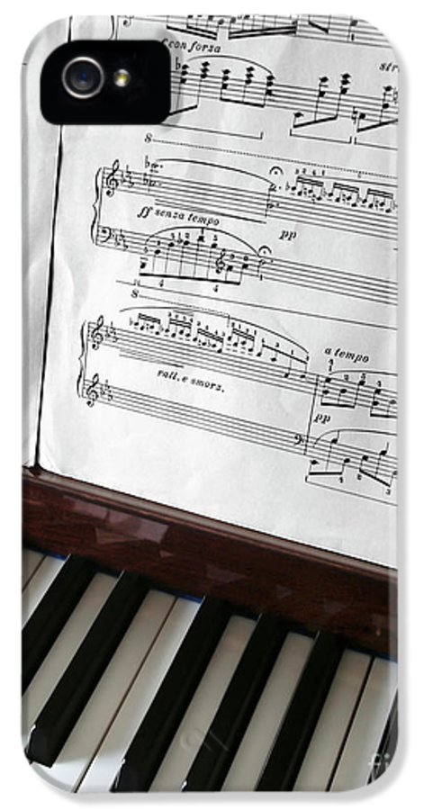 Acoustic IPhone 5 Case featuring the photograph Piano Keys by Carlos Caetano