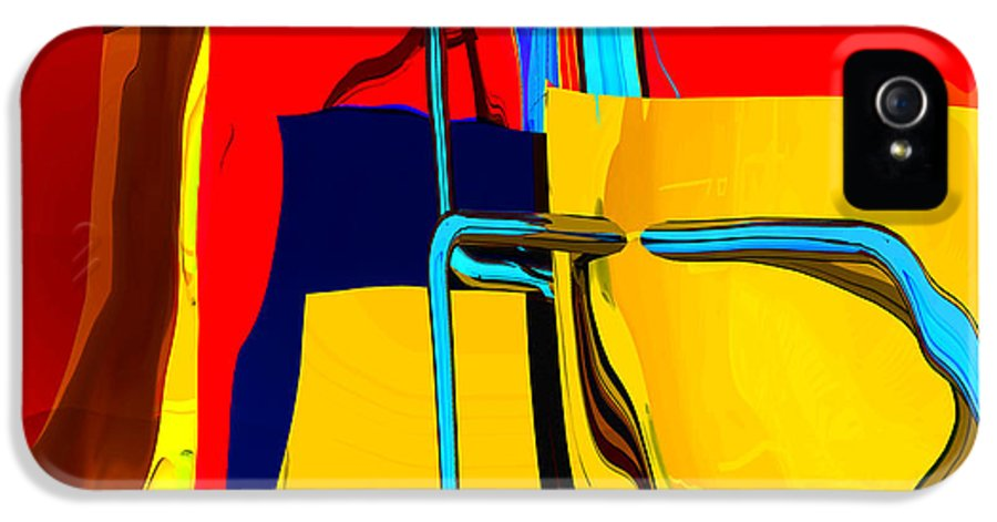 Abstract IPhone 5 Case featuring the digital art Pipe Dream by Richard Rizzo