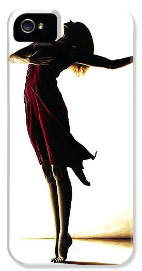 Ballet IPhone 5 Case featuring the painting Poise In Silhouette by Richard Young