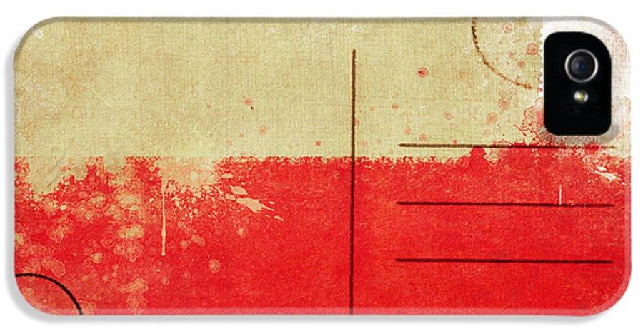 Address IPhone 5 Case featuring the photograph Poland Flag Postcard by Setsiri Silapasuwanchai
