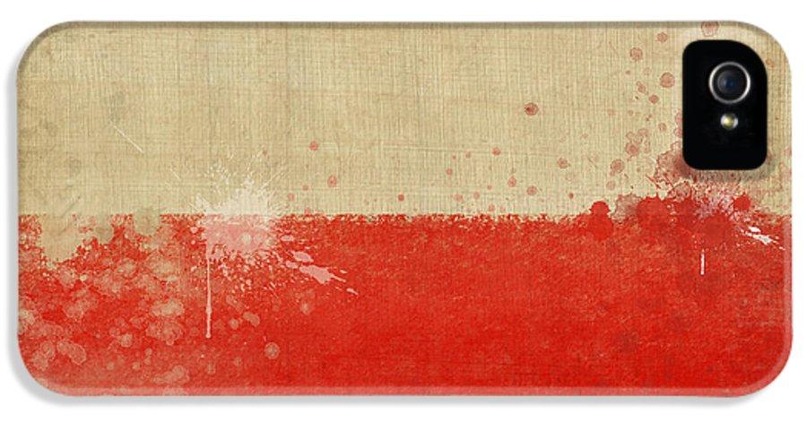 Chalk IPhone 5 Case featuring the photograph Poland Flag by Setsiri Silapasuwanchai