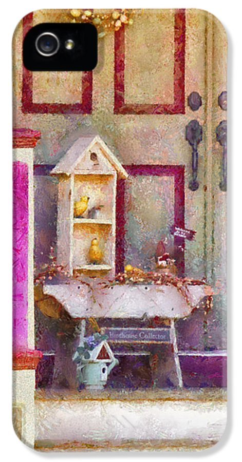 Savad IPhone 5 Case featuring the photograph Porch - Cranford Nj - The Birdhouse Collector by Mike Savad