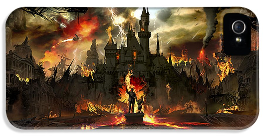 Disneyland IPhone 5 Case featuring the digital art Post Apocalyptic Disneyland by Alex Ruiz