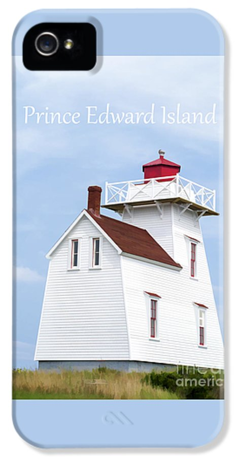 Lighthouse IPhone 5 Case featuring the painting Prince Edward Island Lighthouse Poster by Edward Fielding