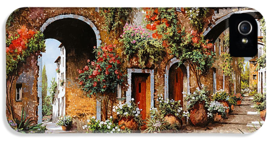 Landscape IPhone 5 Case featuring the painting Profumi Di Paese by Guido Borelli