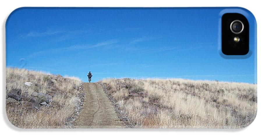 Racing Bike IPhone 5 Case featuring the photograph Racing Over The Horizon by Heather Kirk