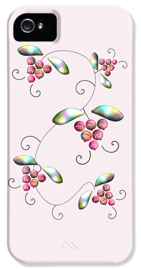 Malakhova IPhone 5 Case featuring the digital art Rainbow Berries by Anastasiya Malakhova