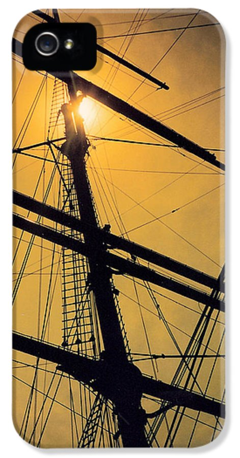 Ship IPhone 5 Case featuring the photograph Raise The Sails by Lauri Novak
