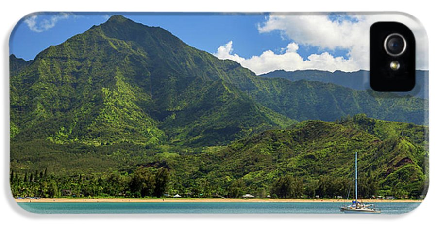 Sailboat IPhone 5 Case featuring the photograph Ready To Sail In Hanalei Bay by James Eddy