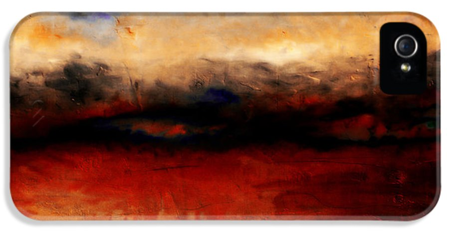 Night IPhone 5 Case featuring the painting Red Skies At Night by Michelle Calkins