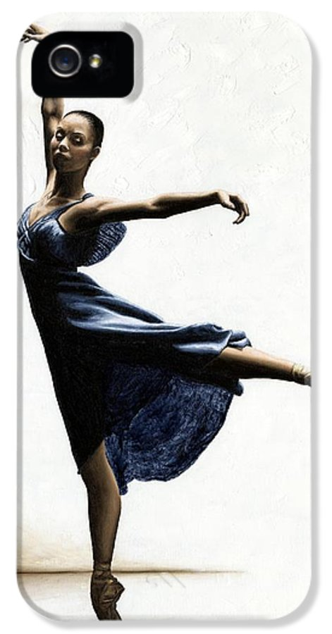 Dancer IPhone 5 Case featuring the painting Refined Grace by Richard Young