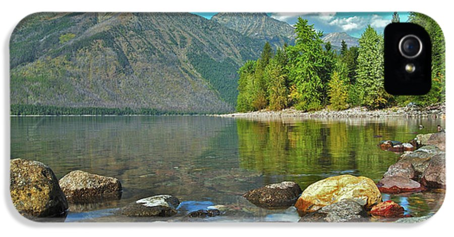 Montana IPhone 5 Case featuring the photograph Reflections Glacier National Park by Michael Peychich