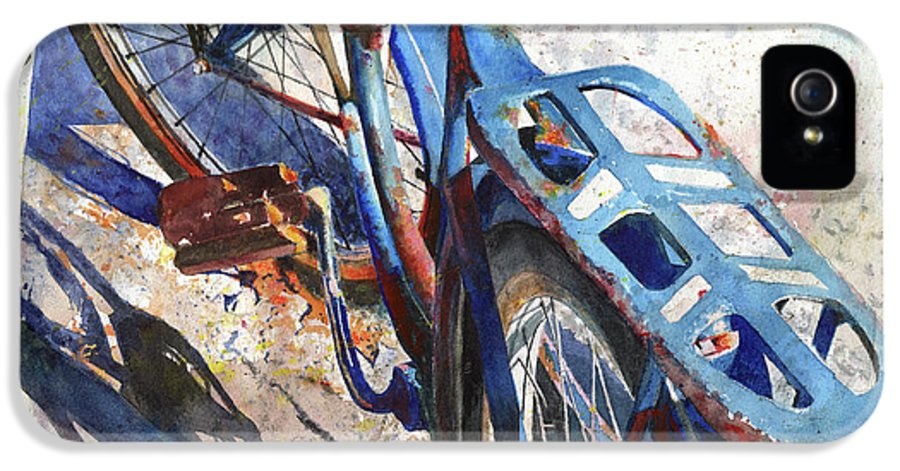 Bicycle IPhone 5 Case featuring the painting Roadmaster by Andrew King