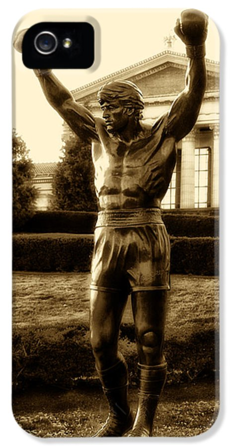 Sports IPhone 5 Case featuring the photograph Rocky - Heart Of A Champion by Bill Cannon