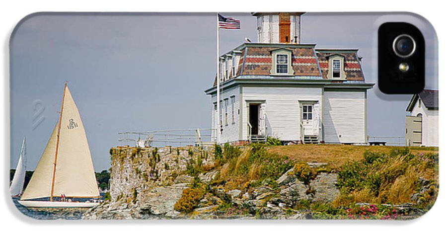 Bay IPhone 5 Case featuring the photograph Rose Island Light by Susan Cole Kelly