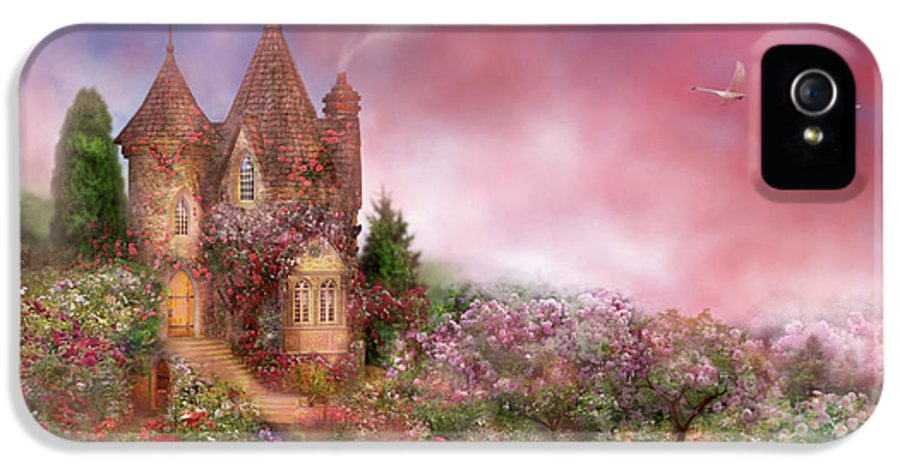 Rose IPhone 5 Case featuring the mixed media Rose Manor by Carol Cavalaris