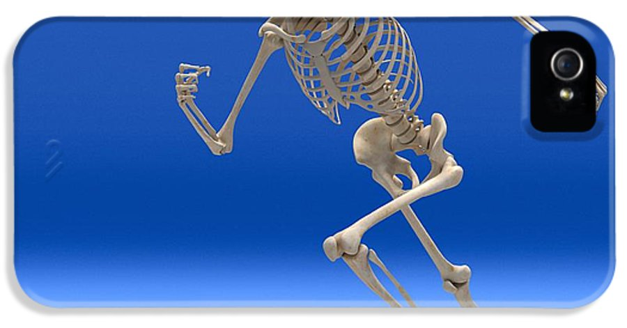 Human IPhone 5 Case featuring the photograph Running Skeleton, Artwork by Roger Harris