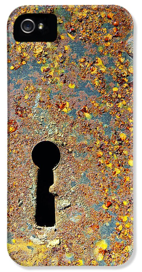 Abandoned IPhone 5 / 5s Case featuring the photograph Rusty Key-hole by Carlos Caetano