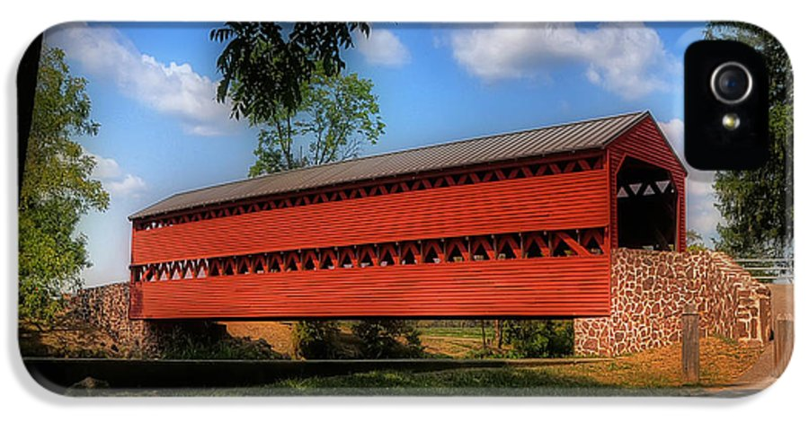 Bridge IPhone 5 Case featuring the photograph Sach's Covered Bridge by Lois Bryan